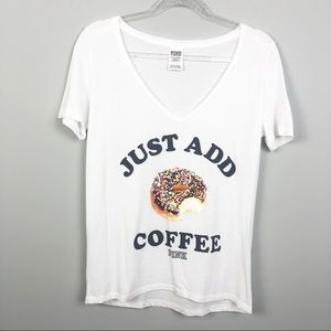 Victoria's Secret Pink | Just Add Coffee Tee